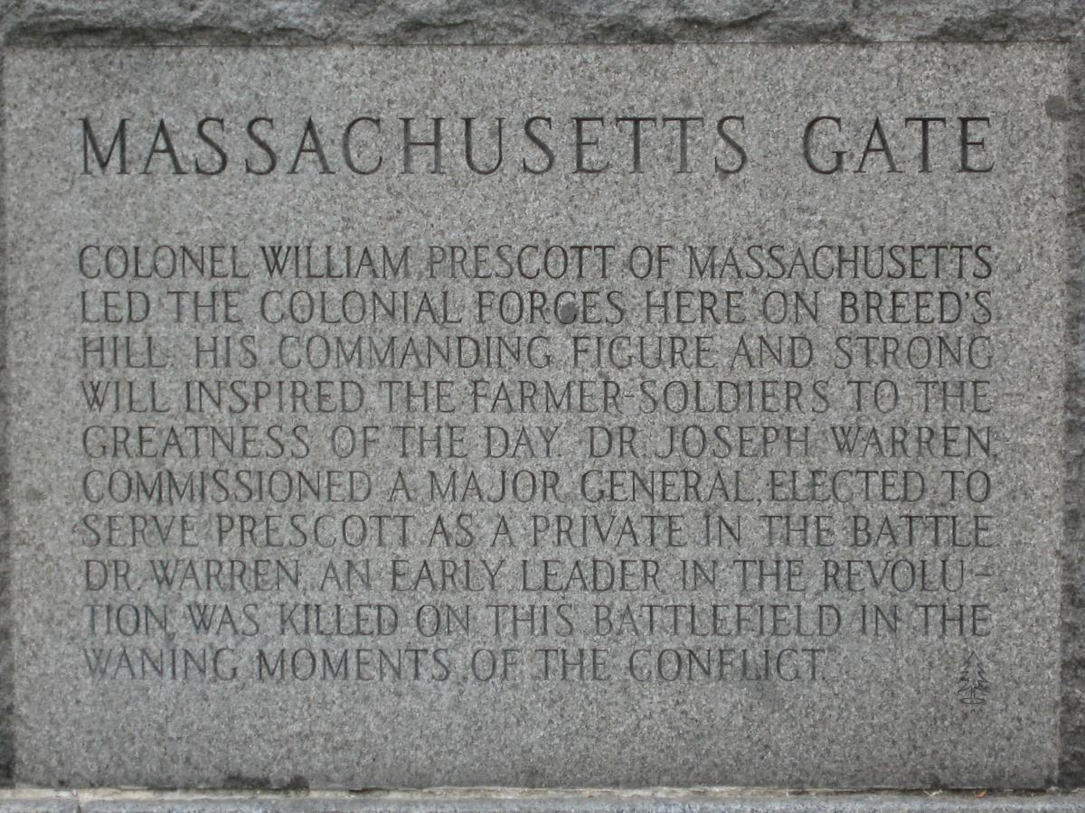 Bunker Hill Monument: The Massachusetts Gate