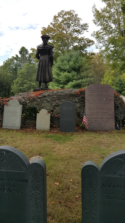 Warren family grave site in Forest Hills Cemetery